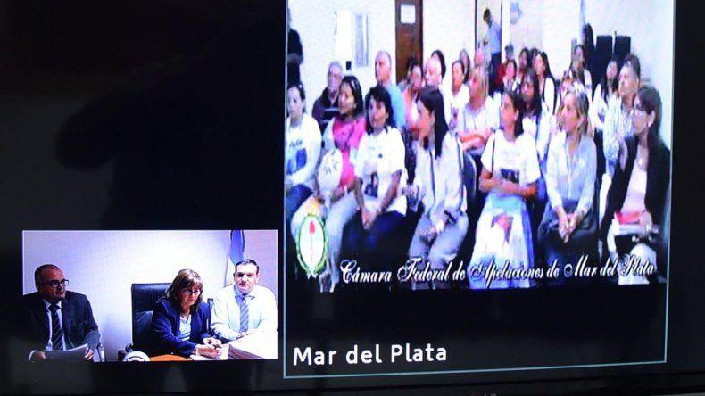La videoconferencia entre la juez Marta Yáñez y parte de los familiares de los tripulantes del ARA San Juan se extendió por una hora y media.