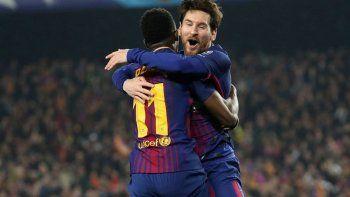 el rey messi catapulto al barcelona a cuartos de final