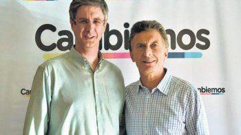 Sergio Ongarato, intendente de Esquel por Cambiemos, junto al presidente Mauricio Macri.