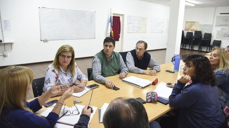 La reunión que concejales mantuvieron ayer con Cherenichenko.