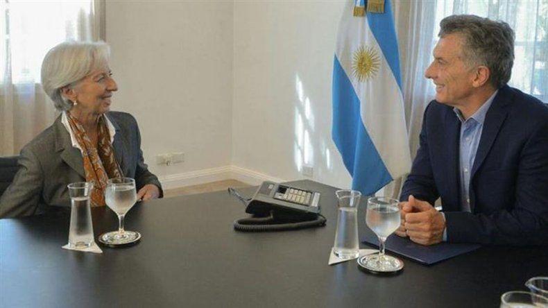 La titular de FMI visitó a Macri en Olivos