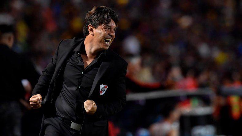 El festejo de Marcelo Gallardo el último miércoles en la final de la Supercopa Argentina que River le ganó a Boca con total autoridad.