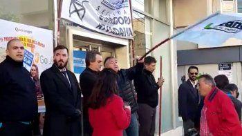 la bancaria protesto en el banco galicia