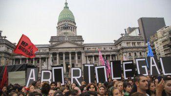El Pañuelazo que se realizó el 19 de febrero frente al Congreso, a favor de la legalización del aborto.