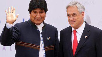 Evo Morales y Sebastián Piñera, hace ocho días en Valparaíso, durante la asunción del presidente chileno.