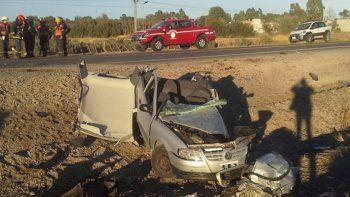 murio una mujer en un accidente en ruta 7