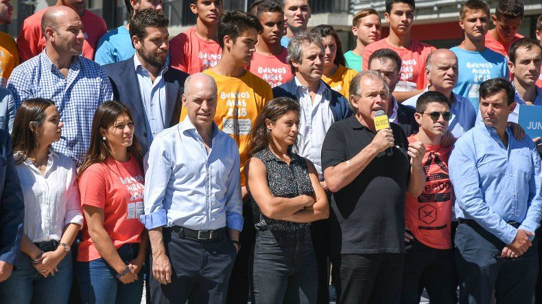 Horacio Rodríguez Larreta inauguró ayer el tour de la Antorcha Olímpica.