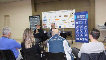 Othar Macharashvili y Hernán Martínez tuvieron su primera reunión con dirigentes de entidades deportivas en el TyPAC.