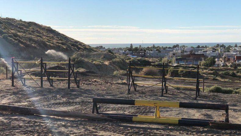 Se colocaron tribunas en distintos sectores del circuito para que el público disfrute del mejor motocross del país.
