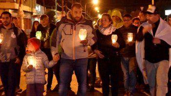 En la noche del viernes hubo una marcha de antorchas organizada por la municipalidad, de la cual tomó parte el intendente Facundo Prades.