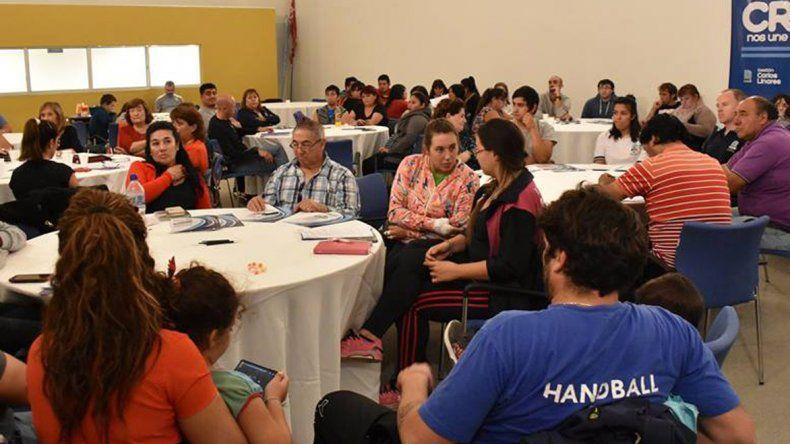 El encuentro con los referentes barriales de Comodoro Rivadavia se realizó el último viernes.