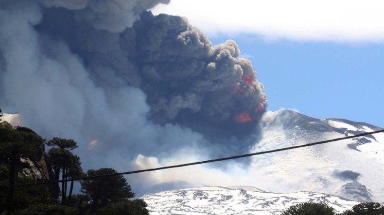 El volcán Copahue está en alerta amarilla