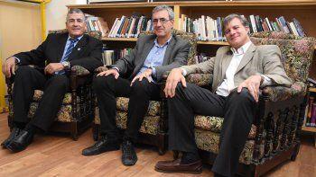 Guillermo Fleitas, Martín Montenovo y Juan Manuel Irusta presentaron el curso de posgrado en Derecho Penal.