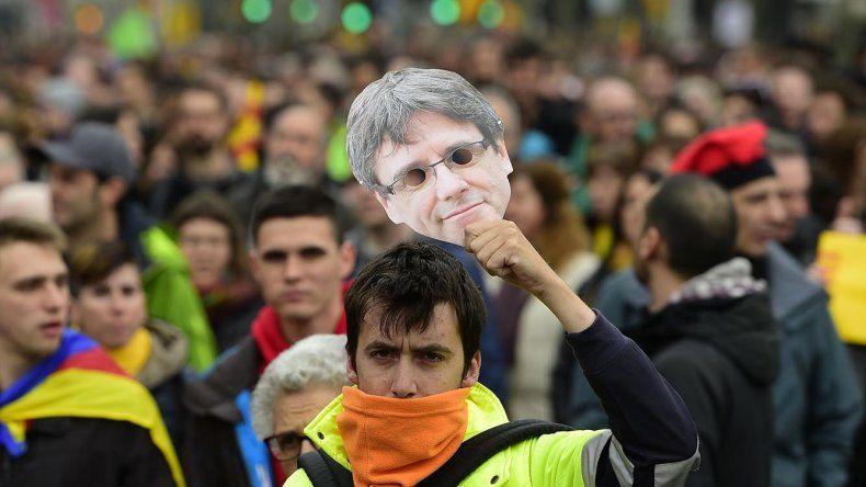 Las protestas en Barcelona y toda Cataluña para pedir por la liberación de Puigdemont.