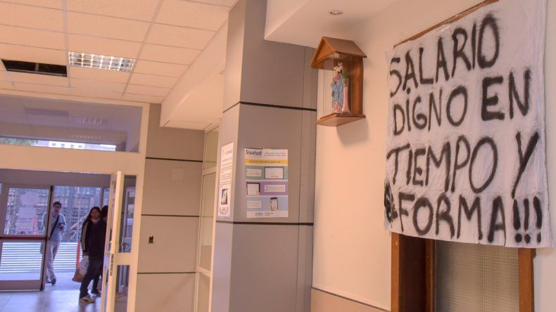 Foto de archivo. Jornada de lucha los trabajadores del Estado en el Hospital Regional