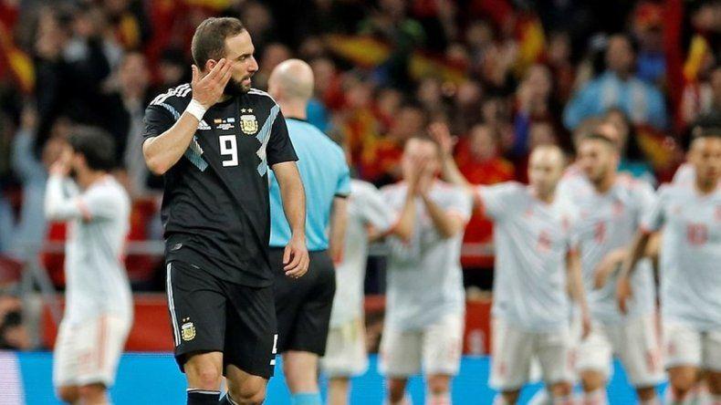 Humillante derrota de Argentina frente a España