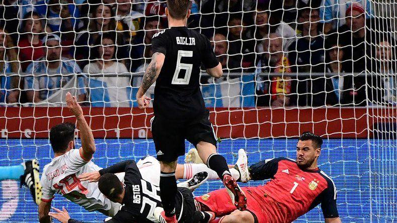 Diego Costa marca el primer gol del partido