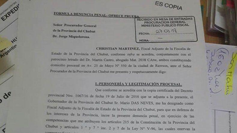 Fiscalía de Estado presentó la denuncia por fraude en la compra de las cámaras