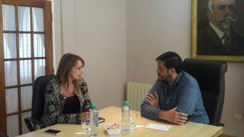 Nadia Ricci se reunió como diputada con el intendente de Perito Moreno