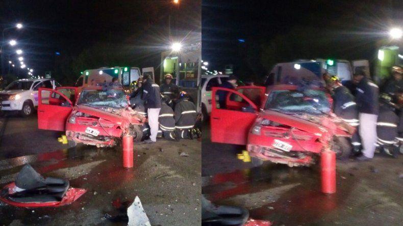 Se accidentó Bacar, acusado de atropellar y matar a un motociclista