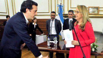 El contador público Ignacio Perincioli prestó juramento como nuevo ministro de Economía ante la gobernadora Alicia Kirchner.