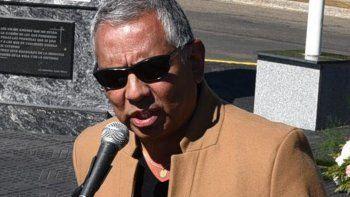 El presidente de la comisión de fomento de Cañadón Seco, Jorge Soloaga fue uno de los expositores en la reunión del Consejo Hidrocarburifero.
