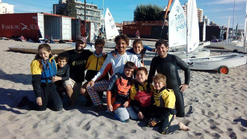 El equipo radatilense que dejó bien representado al Club Náutico Rada Tilly en Puerto Madryn.