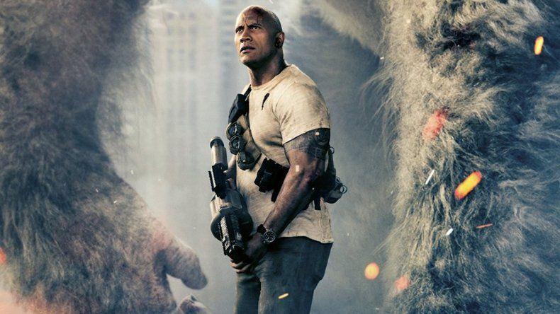 Dwayne Johnson es el protagonista principal de Rampage