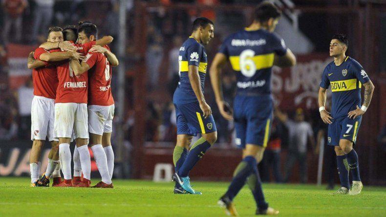 Boca perdió ante Independiente y le puso suspenso al torneo