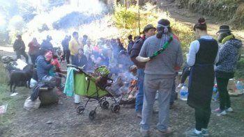 mapuches tomaron en la angostura un predio vecino al de ginobili