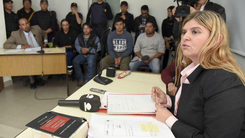 La fiscal Camila Banfi durante el relato de los delitos que se les imputan a los hermanos Ibáñez.