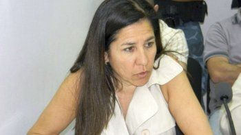 La fiscal María Angélica Leyba.