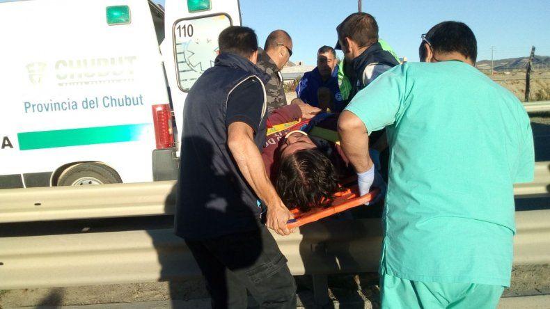 Accidente en Ruta 3 dejó un hombre herido