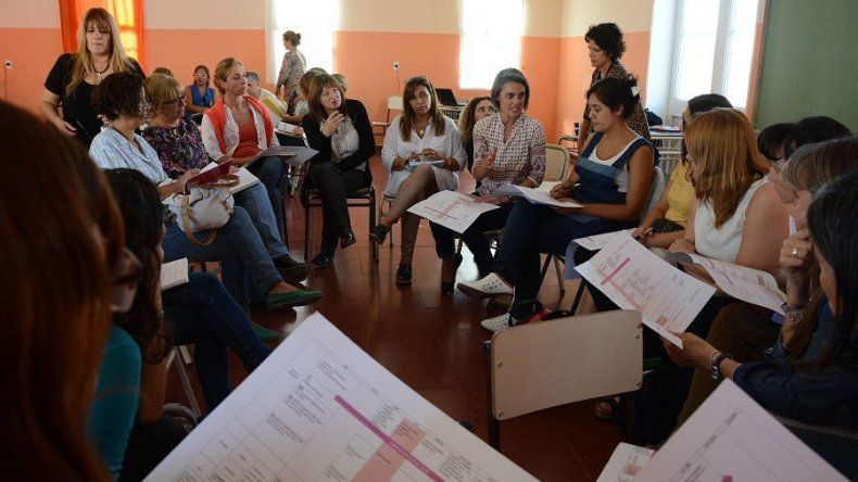 El encuentro que reunió a docentes de toda la provincia se desarrolló en Trelew.