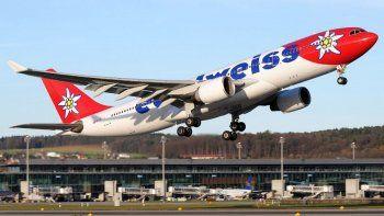 una aerolinea suiza a volar la ruta buenos aires-zurich