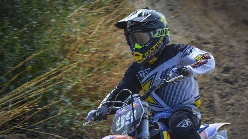 Lucas Tejada logró el triunfo en la categoría 85cc en Perito Moreno.