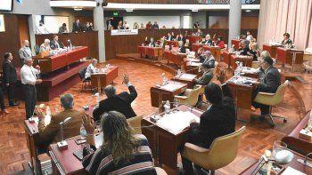 La sesión de ayer de la Cámara de Diputados de Chubut donde se aprobaron los pedidos de informes.