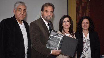 Eugenio Semino recibió ayer un reconocimiento en la Universidad Nacional de la Patagonia San Juan Bosco.