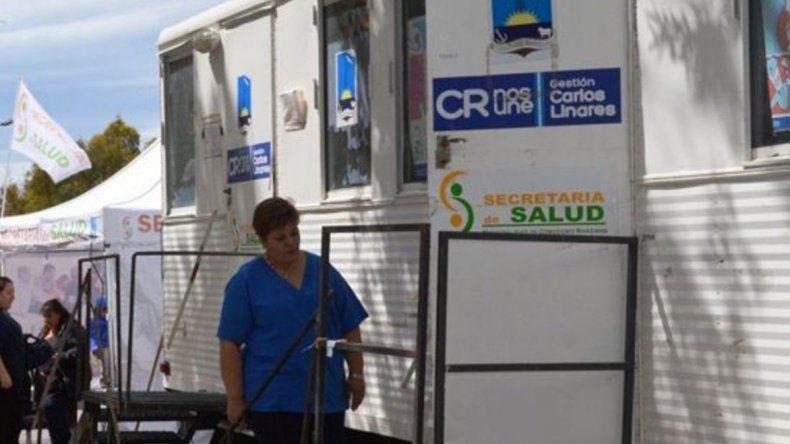 El tráiler de Salud posibilitará a habitantes de Cerro Solo realizarse estudios médicos
