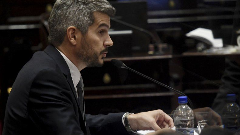 Marcos Peña Braun al rendir cuentas el miércoles en el Congreso.