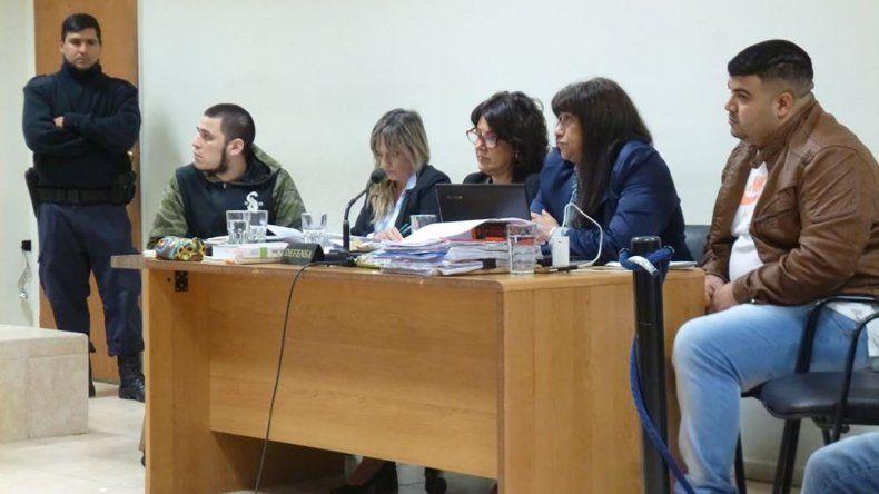 La primera jornada de juicio realizada ayer en los tribunales penales de Comodoro Rivadavia.