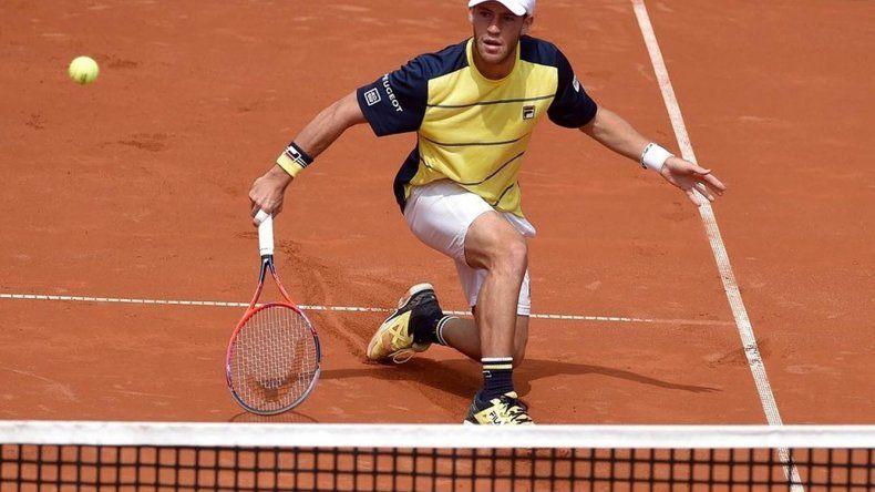 Diego Schwartzman debutó en el ATP 250 de Munich pero quedó rápidamente eliminado.