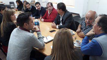El encuentro de Fernando Alvarez de Celis con los concejales.