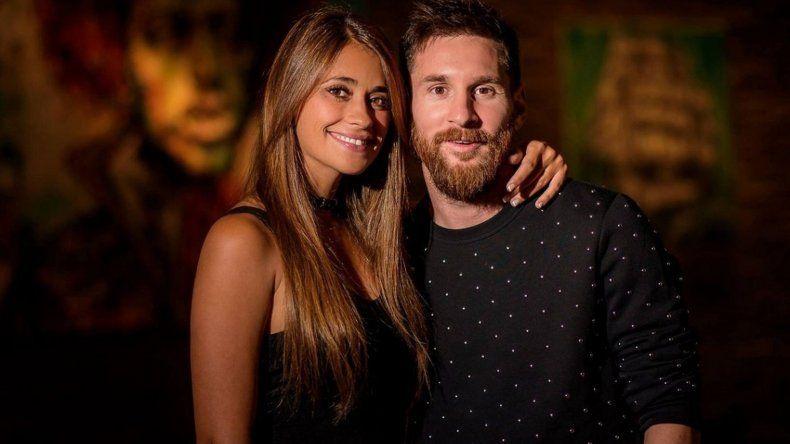 La noche de fiesta de Antonela Roccuzzo y Lionel Messi