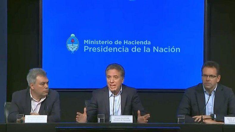 Nicolás Dujovne: el FMI apoya nuestro programa gradual