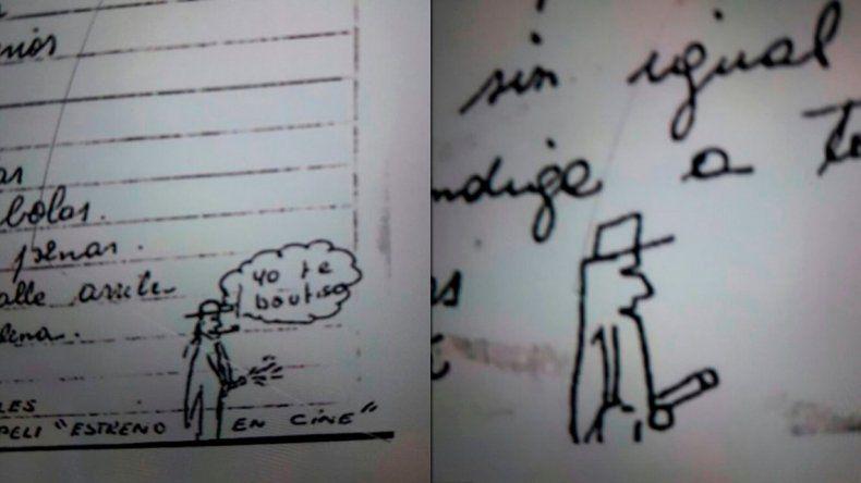 Dibujos fálicos y textos perversos de un cura acusado de abuso sexual