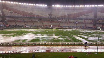 Se suspendió River-Estudiantes por el temporal