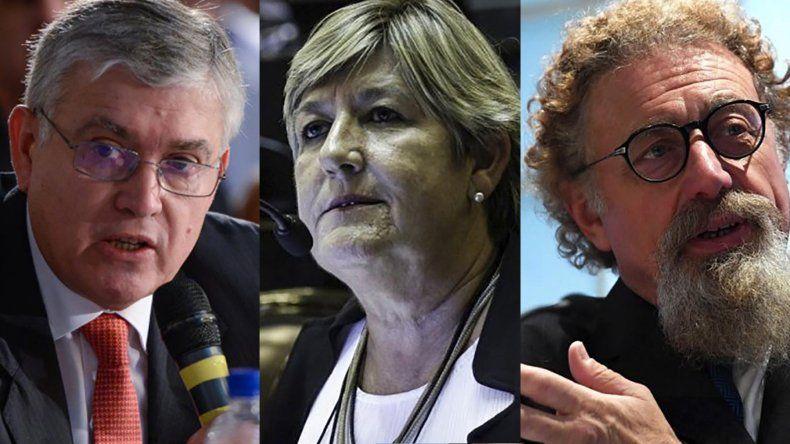 En el Senado, los tres  de Chubut en contra