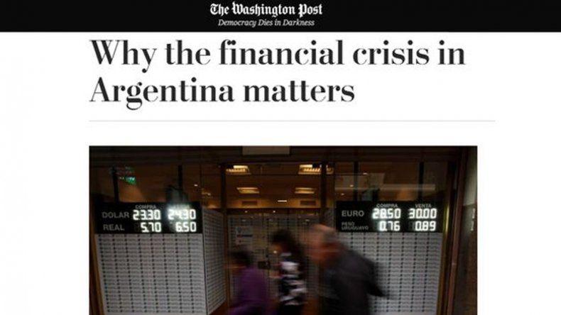 Desde EEUU pronostican una nueva crisis financiera y posan sus ojos sobre Argentina