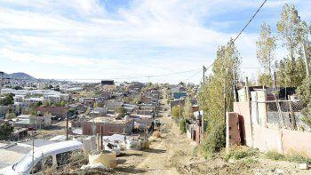El sector donde se encuentra la vivienda de Nahueltruz, quien fue hallado en el suelo con seis puñaladas en el tórax.